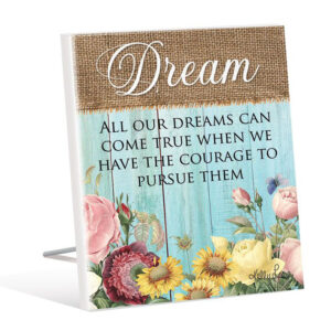 French Country Wooden Sign HEIRLOOM DREAM Standing Plaque