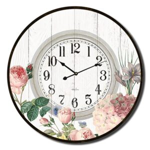 Clock Country Vintage Inspired Wall Large Heirloom Floral 60cm
