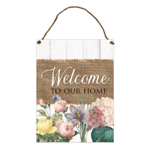 Country Metal Tin Sign Wall Art Heirloom Welcome Plaque