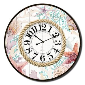 Clock Country Vintage Inspired Wall Large Starfish 60cm