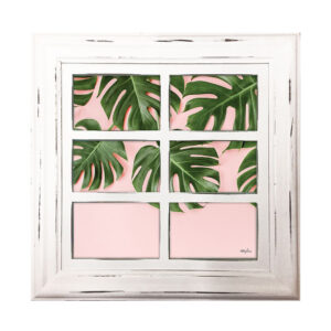 French Country Whitewash Wooden 6x4 Six Monstera Photo Frame