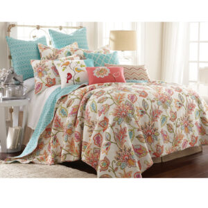 French Country Patchwork Bed Quilt Sophia Coverlet Assort Sizes