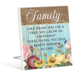 French Country Wooden Sign HEIRLOOM FAMILY Standing Plaque