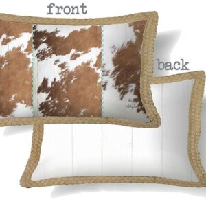 Decorative Cushion Country Cow Hide 30x50cm Including Insert