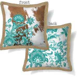 Decorative Cushion Country Turquoise 45x45cm Including Insert