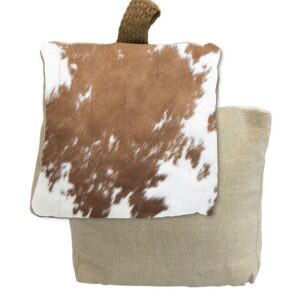 French Country Doorstopper Country Cow Hide Door Stop Weighted