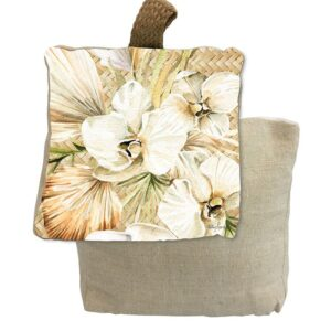 French Country Doorstopper Palomino Orchid Door Stop Weighted