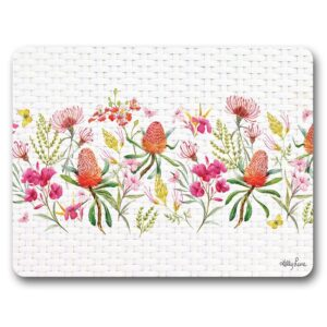 Kitchen Cork Backed Placemats AND Coasters Blossom Border Set 6