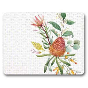 Kitchen Cork Backed Placemats AND Coasters Blossom Banksia Set 6