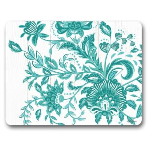Kitchen Cork Backed Placemats AND Coasters Country Turquoise Set 6