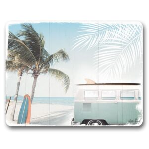 Kitchen Cork Backed Placemats AND Coasters Wanderlust Palm Set 6