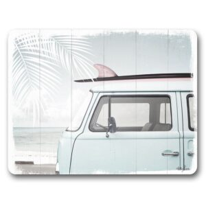 Kitchen Cork Backed Placemats AND Coasters Wandalust Van Set 6