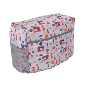 Sewing Machine Dust Cover with Zipper Pocket Grey