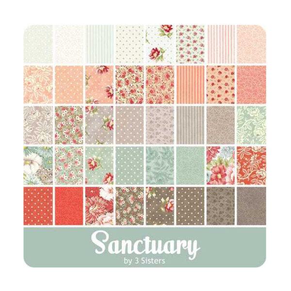 Moda Quilting Sewing Fabric Fat Quarter Pack Sanctuary 40 Pieces
