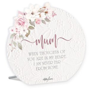 French Country Wooden Sign Mothers Day Mum Heart Plaque