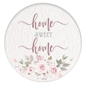 French Country Wooden Print Mothers Day Home Sweet Home Round