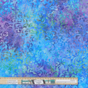 Quilting Patchwork Fabric Sewing Batik Blue Green Purple Backing 270x50cm