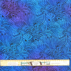 Quilting Patchwork Fabric Sewing Peacock Fantasy Backing 270x50cm
