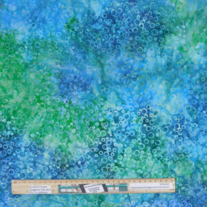 Quilting Patchwork Fabric Sewing Batik Green Blue Bubble Backing 270x50cm