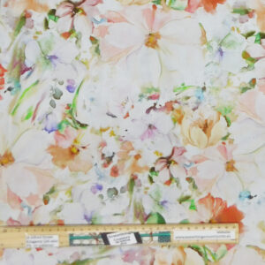 Quilting Patchwork Fabric Sewing Apricot Floral Arabesque Backing 270x50cm