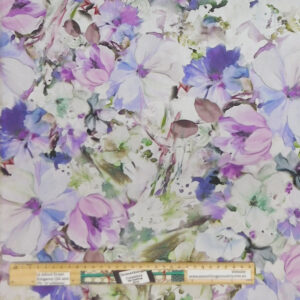 Quilting Patchwork Fabric Sewing Purple Floral Arabesque Backing 270x50cm