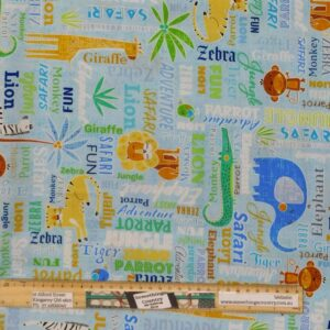 Quilting Patchwork Sewing Fabric African Sweet Safari 50x55cm FQ