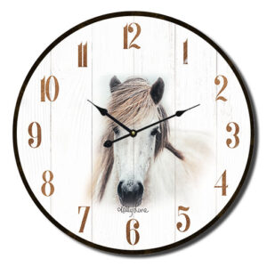 Clock Country Vintage Inspired Wall Country Horse Mare 22cm