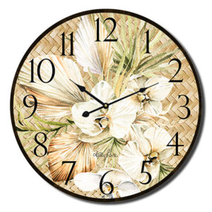 Clock Country Vintage Inspired Wall Palomino Orchid 22cm
