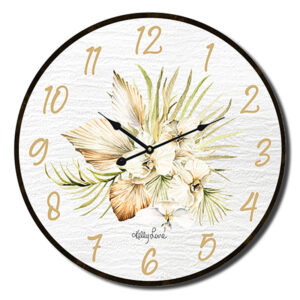 Clock Country Vintage Inspired Wall Palomino Palm 34cm