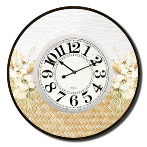 Clock Country Vintage Inspired Wall Large Palomino Sand 60cm