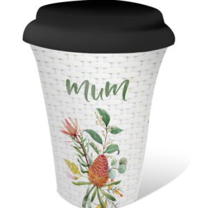 French Country Travel Tea Coffee Mug Blossom Mum