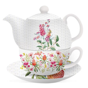 Floral Teapot Blossom Grevillea Tea For One Cup and Saucer