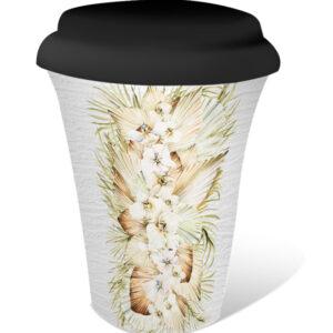 French Country Travel Tea Coffee Mug Palomino Border Floral