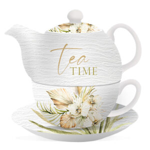 Floral Teapot Palomino Tea Time Tea For One Cup and Saucer