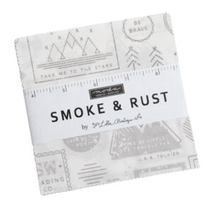 Moda Quilting Charm Pack Patchwork Smoke and Rust 5 Inch Sewing Fabrics