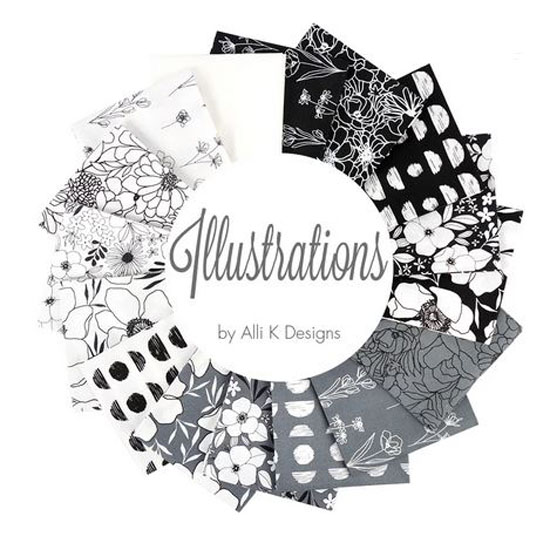 Moda Quilting Charm Pack Patchwork Illustrations 5 Inch Sewing Fabrics