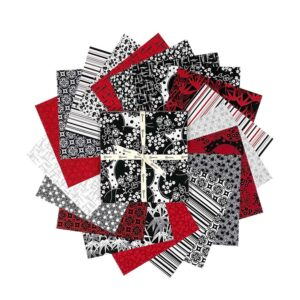Clothworks Quilting Layer Cake Patchwork ruby Night 10 Inch Fabrics
