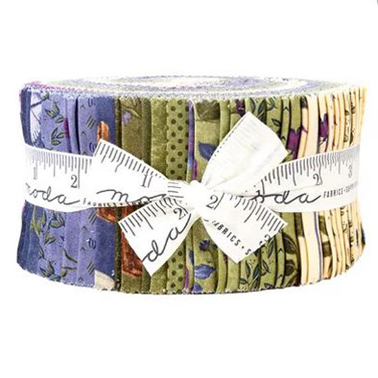 Moda Quilting Jelly Roll Patchwork Violet Hill 2.5 Inch Sewing Fabrics