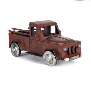 French Country Rustic Metal Truck Garden Ornament