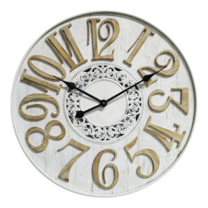 Clock French Country Wall 60cm Scandi Flair Large Clocks