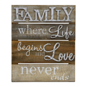 French Country Rustic Wood and Metal Family Life Love Wall Art