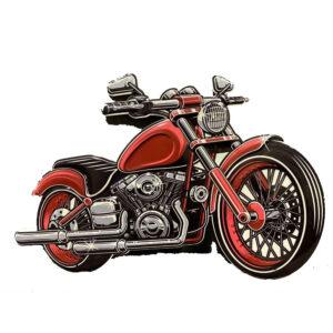 Country Metal Tin Sign Wall Art Motor Bike Cutout