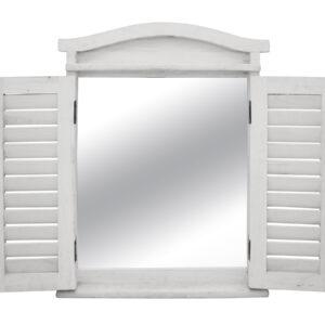 Country Farmhouse Shutter Door Wall Mirror Cabinet