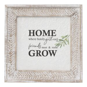 Country Farmhouse Sign Home and Grow Framed Wall Art