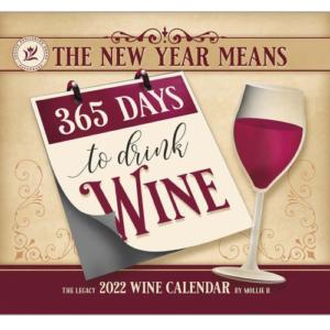 Legacy 2022 Calendar Wine Calender Fits Lang Wall Frame
