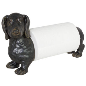 French Country Dog Paper Towel Holder Benchtop
