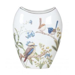Elegant Australian Birds China Floral Flowers Vase