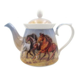 Elegant Kitchen Teapot Horses China Tea Pot 1 Litre Gift Boxed