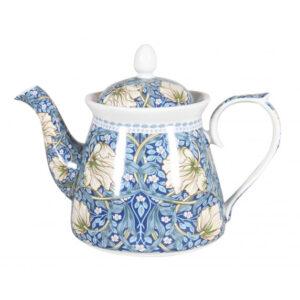 Elegant Kitchen Teapot William Morris Blue China Tea Pot 1 Litre