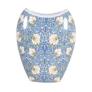 Elegant William Morris Blue China Floral Flowers Vase